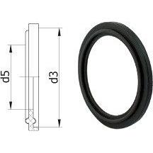EPDM уплотнение для CLAMP соединения Lateya 15 мм