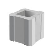 Пустотный блок BERNSTONE Столб бетон 300х300х300 мм серый цемент
