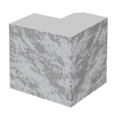 Полублок стовпа колотий BERNSTONE бетон 190х190х190 мм сірий цемент