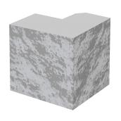 Полублок столба колотый BERNSTONE бетон 190х190х190 мм серый цемент
