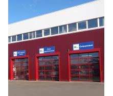 Панорамные ворота ALUTECH AluTrend 3500х4000 мм RAL 3004 пурпурно-красный