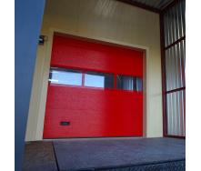Промислові ворота ALUTECH ProTrend мікрохвиля 2875х3000 мм RAL 3004 пурпурно-червоний