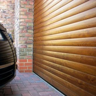 Роллетные ворота ALUTECH Prestige 3700х2700 мм золотой дуб