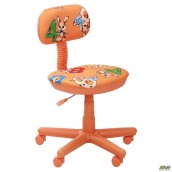 Кресло AMF Свити Зайцы 650x650x920 мм оранжевый