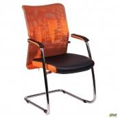 Крісло Аеро CF хром сітка Zeus 045 Orange 570x520x920 мм оранж-Skyline