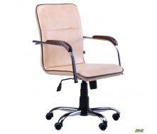 Офісне крісло АМФ Самба-RC 880-1110х640х680 мм Хром горіх Мадрас з кантом 635x675x1115 мм голд беж