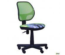 Кресло AMF Чат сиденье Дизайн №11 Котенок спинка сетка салатовый