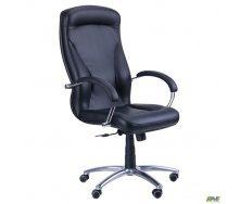 Офісне крісло АМФ Х'юстон хром механізм-Anyfix чорне