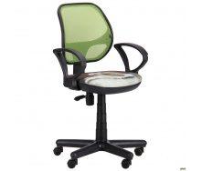 Кресло Чат/АМФ-4 сиденье Дизайн №10 Собачка спинка сетка салатовый