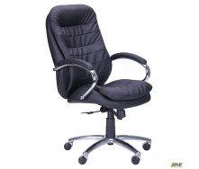 Офісне крісло AMF Валенсія HB 1140-1210х660х660 мм механізм ANYFIX чорне хром для керівника