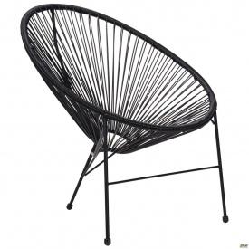 Садовий стілець АМФ Acapulco 860х710х790 мм техно-ротангу чорний