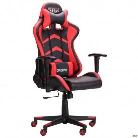 Комп'ютерне крісло AMF VR Racer Blaster чорний/червоний