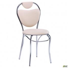 Мягкий стул АМФ Соул 890х400х450 мм каркас-хром кожзам сидения-бежевый