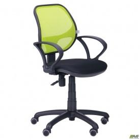 Детское кресло Байт АМФ-4 сиденье сетка черная спинка сетка лайм 580x550x1020 мм