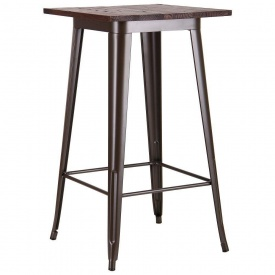 Квадратный барный стол АМФ Slash 600х600 мм кофе