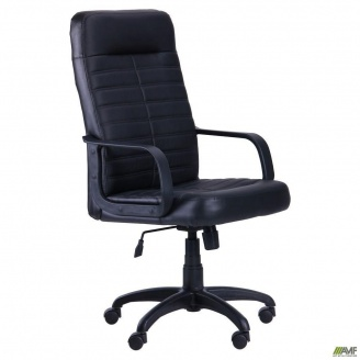 Комп`ютерне крісло AMF Ледлі 1130-1270х620х620 мм Пластик чорне Неаполь N-20