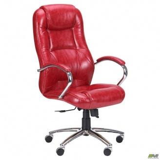Кресло Мустанг Anyfix Хром Лаки 510x850x1250 мм красный