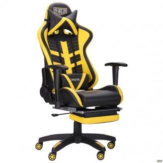 Кресло АМФ VR Racer BattleBee черный/желтый