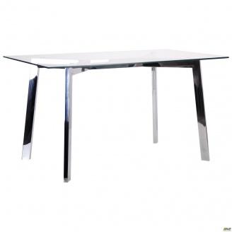 Стол обеденный АМФ Луиджи DT-1610 1400х800х760 мм стекло прозрачное хром