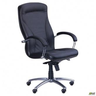 Кресло AMF Хьюстон хром Механизм MB Кожа Сплит 640x730x1280 мм черный
