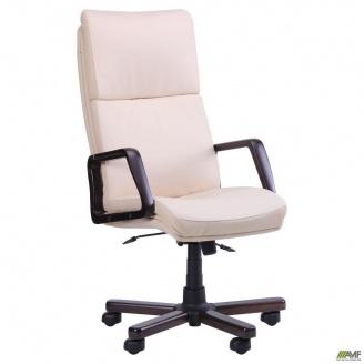 Кресло Техас Экстра Механизм ANYFIX кожа люкс комбинированная 640x730x1330 мм ваниль