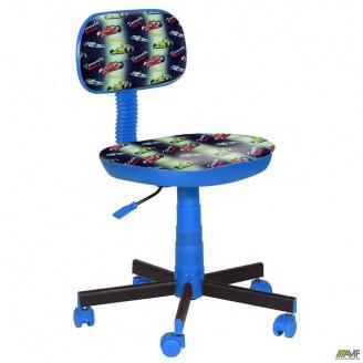 Кресло детское AMF Киндер Машинки пластик синий