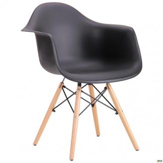Пластиковое кресло-стул AMF Salex PL 810х630х620 мм Wood черный