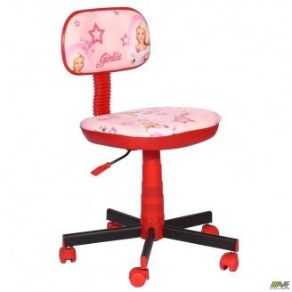 Кресло детское AMF Киндер Girlie пластик красный