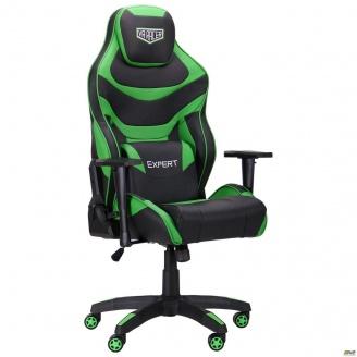 Геймерское кресло AMF VR Racer Expert Champion черно-зеленый кожзам