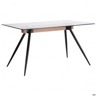 Стол обеденный AMF Корлеоне стекло прозрачное