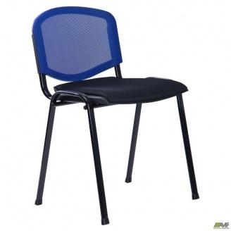 Стул Призма Веб сиденье сетка черная спинка сетка синяя 540x635x825 мм