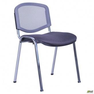 Стул Изо Веб каркас хром сиденье сетка черная спинка сетка серая 535x560x840 мм