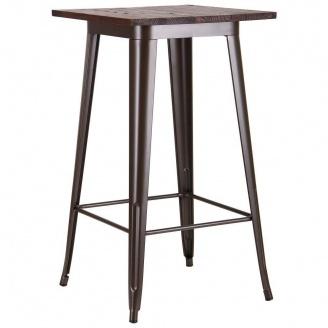 Квадратный стол АМФ Slash кофе