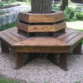 Скамейка вокруг дерева Гюмри