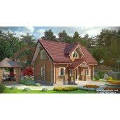 Проект будинку з профільованого бруса 180 мм