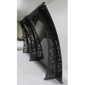 Сборный металлический козырек Dash`Ok Стиль 2,05x1,5 м с монолитным поликарбонатом 4 мм