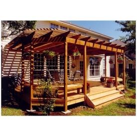 Строительство деревянной перголы Гюмри под ключ