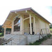 Будівництво будинку з клеєного бруса 200 мм 85 м2