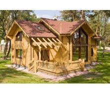 Строительство дома из клееного бруса 200 мм 155 м2
