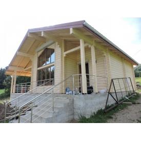 Строительство дома из клееного бруса 200 мм 85 м2