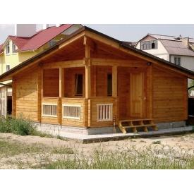 Строительство деревянной бани из клееного бруса