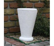 Бетонна ваза Золотий Мандарин Класик 400 мм біла