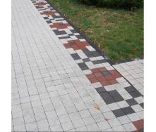 Тротуарная плитка Золотой Мандарин Квадрат малый 100х100х60 мм на белом цементе белый
