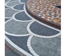 Тротуарная плитка Золотой Мандарин Креатив 60 мм серый