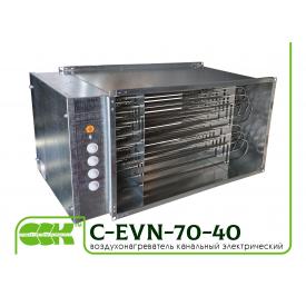 Воздухонагреватель электрический канальный C-EVN-70-40-45