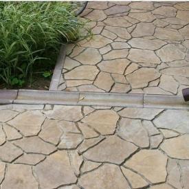 Отлив Золотой Мандарин 500х200х60 мм на сером цементе персиковый
