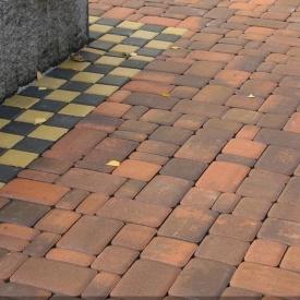 Тротуарна плитка Золотий Мандарин Старе місто 120х60 мм сієна