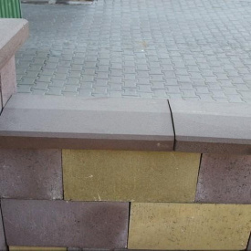 Кришка для парапету Золотий Мандарин 500х260х60 мм коричневий