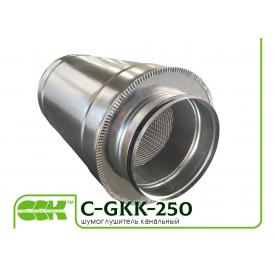 Трубчатый шумоглушитель для круглых каналов C-GKK-250-900