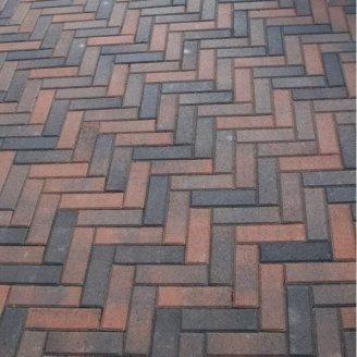 Тротуарная плитка Золотой Мандарин Кирпич узкий 210х70х60 мм болонья